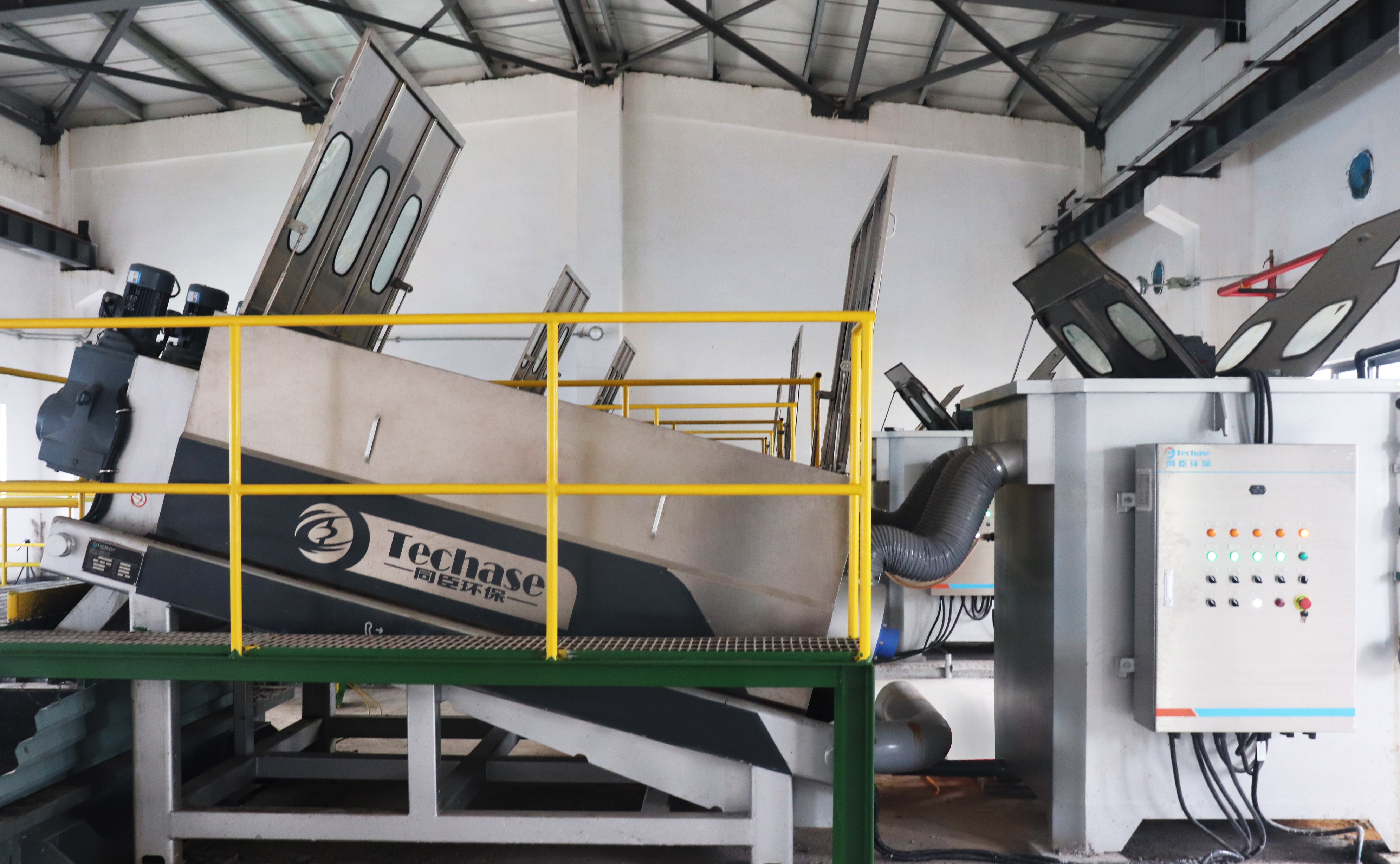 Techase Develops Special Multi Plate Screw Press for Chemical Sludge-1