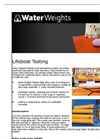 Water Weights - Lifeboat Testing Bags Brochure