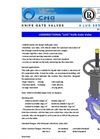 CMO - A-LUG Series - Knife Gate Valves - Brochure