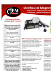 Model GEM GSM-19 - Cost Effective and High Precision Overhauser Magnetometer Brochure