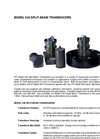 Model 540 - Split-Beam Transducers - Datasheet