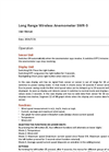 Scarlet - Model WR-3 - Long Range Wireless Anemometer - User Manual