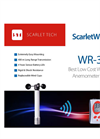 Scarlet - Model WR-3 - Wireless Long Range Anemometer Brochure
