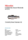 MicroSet - Model MS CD 03 - Conductivity Sensors / Electrodes - Brochure
