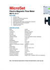 MicroSet - Model MS FL 011 - Electro Magnetic Flow Meter - Brochure