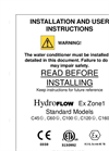 HydroFLOW - Ex Zone1 - Installation and User Instructions Manual