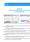 ZondPGM - 2D Gravity and Magnetic Interpretation Software in Polygonal Way Brochure