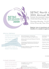SETAC North America 30th Annual Meeting - Latest Mailer (PDF 83 KB)