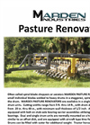Pasture Renovators Products Brochure