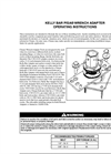Kelly Bar Pisa - Wrench Adapter Operating Instructions Manual