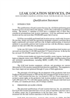 Leak Location Services Qualification Statement Brochure