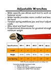 Cementex - Model AW-10 - Adjustable Wrenches - Datasheet