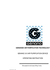 Genano - 310 - Innovating Air Purification - Manual