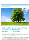 ISO 14001 Foundation and Internal EMS Auditor - Tech sheet