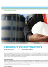 Incident Investigation - Tech sheet