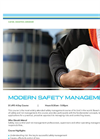 Modern Safety Management - Tech sheet