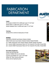Fabrication Department Equipment List Brochure