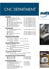 CNC Department Equipment List Brochure