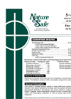 Nature Safe - Model 5-6-5 - Starter Fertilizer Brochure