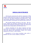 Annual Maintenance Services Brochure