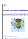 Erection, Trial Runs and Commissioning Services Brochure