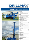 Drillmax - Model 250 - Water Well Rig for Shallow Water Wells - Brochure