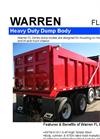 Model F and FL Series - Dump Truck Bodies Brochure