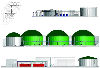 Design biogas plants