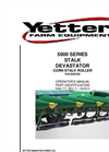 Yetter - 5000-001 - Stalk Roller Manual