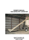 Model 1600 Series - Top-Carry Conveyors  Manual