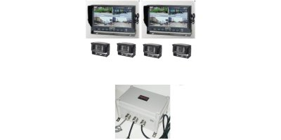 Model PRX-SETV3-2M4C - Waterproof Dual Split-Screen Kit - Scooptram/Loader Systems