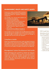 Environment, Health and Safety (EHS) Services - Brochure