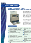 Oxygen Permeation Analyzer Lyssy OPT-5000 American Brochure