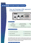 Portable Intrinsically Safe Portable Oxygen Analyzer EC92DIS American Brochure