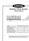 Model SRV - Skeleton Rock Bucket- Brochure