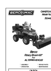 Bercomac - 700448-4 - Rotary Brooms for ATV - Manual