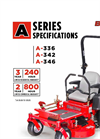 BigDog - A Series - High Blade-Tip Speed Mower Specifications