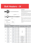 Caloritech™ - Model IXS - Bolt Heater (Stud Heater) - Brochure