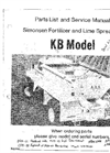 Simonsen - Model KB - Fertilizer or Lime Spreader Manual