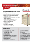 Enginuity Portable Grid - CQ-1250 - Commercial Grade Power Module Brochure