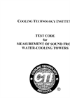 CTI Test Code for Measurement of Sound from Water-Cooling Towers - Manual