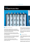 First Air - F5 - Rigid Pocket Filter Datasheet