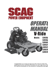 V-Ride - Stand On Mowers Manual