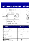 Dustmaster - Twin Shaft Style Industrial Batch Mixing Systems Specifications- Brochure