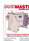 Refractory 8 Cubic Ft Paddle Mixer -Brochure