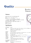 Complete Bourdon Sensing Pressure Gauge Specifications and Ordering Procedures