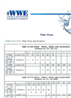Filter Press Specification Brochure