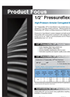 Pressureflex - Model HP - High-Pressure Annular Corrugated Metal Hose Brochure