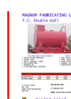 Magnum - Model TC - Double Wall Tank - Datasheet