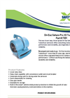 Dri-Eaz Sahara Pro F351 X3 Turbo Dryer Brochure